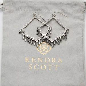 Kendra Scott Silver Frame Fringe Dangle Earrings